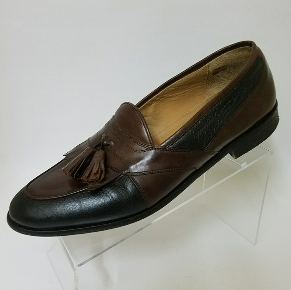d99e11b2ff3 Johnston Murphy Signature Series Mens 11M Tassel Kiltie Black Loafers Shoes